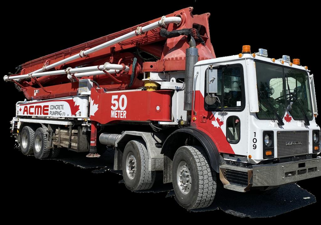 50 meter concrete pump truck